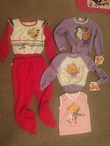90791a3a11b RARE NWT 5 pc Deadstock Vintage DOBIE Rainbow Brite 80s Girl Clothing Lot  sz 6T