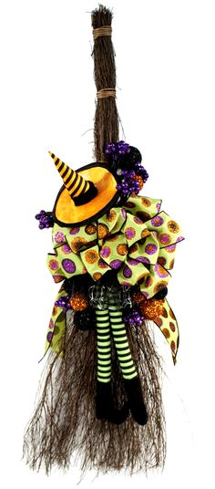 Halloween Witch Broom craft                                                                                                                                                      More