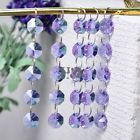 5 Crystal Octagonal Beads Chandelier Light Prisms Decor Pendant Curtain 14mm