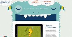 Playtend Monster-Mouth Website App makers Playtend's website has an adorable monster whose mouth closes with the scroll-down, until at the bottom, he has cute little buck teeth.      Credits: http://1000cutethings.tumblr.com/page/76