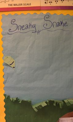 Emily's Music Blog: Sneaky Snake- a few ways to play the game SNEAKY SNAKE to help with music literacy and song recognition/ memory