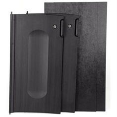 Rubbermaid Commercial Locking Cabinet Door Kit, For Use With RCP Cleaning Carts, Black