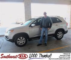 Happy Anniversary to Jay Current on your 2012 #Kia #Sorento from Larry Upton and everyone at Southwest KIA Rockwall! #Anniversary