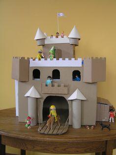 Kasteel van karton/Cardboard castle – Peet-made-it Cardboard Box Crafts, Cardboard Castle, Projects For Kids, Diy For Kids, Crafts For Kids, Preschool Crafts, Fun Crafts, Paper Crafts, Castle Crafts