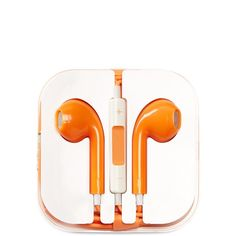 PhunkeeTree Orange Earbuds (£6.52) ❤ liked on Polyvore featuring accessories, tech accessories, no color, wrap around earbuds, earbuds and earphones earbuds
