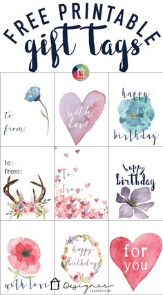 OMG These Printable Gift Tags Are GORGEOUS And They Free Grab Your Now Just Click On This Pin Ive Already Tried It