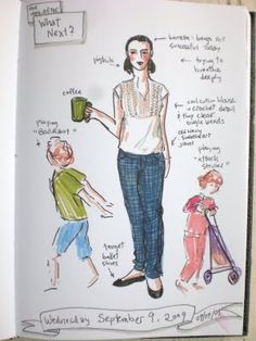 """""""What Next?"""" What I Wore Today Sketch the day after I finished my 100 in 100 days creativity challenges. The second most popular post on my blog... and I'm not really sure why."""