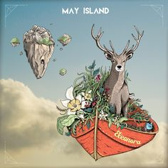 Illustration+ photography. Album cover for May Island by Dangercat