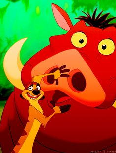 Day 7. Your Favorite Sidekick: Timon & Pumba <3