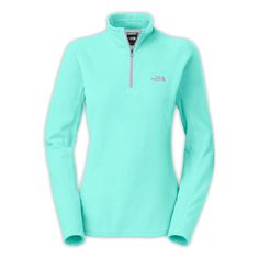 The North Face Womens Glacier 1/4 Zip - Mint Everything