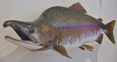 Salmon Replicas — The best salmon fish mounts salmon fish replicas steelhead fish mounts replicas rainbow trout fish mounts by luke filmer Chum Salmon, Fish Mounts, Trophy Fish, Going Fishing, Fishing Stuff, Fishing Lures, Fly Fishing, Fish Artwork, King Salmon