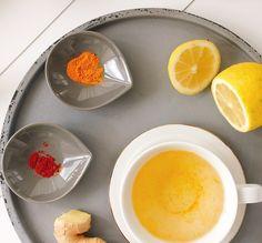 Kurkuma Tee, Heilmittel, Ingwer, Zitrone und Cayennepfeffer