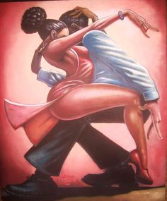 Dance with me IV by Artist Lonnie Ollivierre