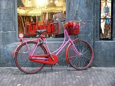 pink & red bicycle