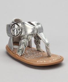 This Natural Steps Silver Lil' Amina Sandal by Natural Steps is perfect! #zulilyfinds