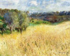 Pierre-Auguste Renoir (French, 1841-1919), Wheatfield, 1879. Oil on canvas, 50.5 x 61 cm.