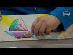 Como pintar con espátulas con acrílicos, DIY , Barcos en espátulas HECHO CON ESTILO 04-06-2013 - YouTube Arte Country, Youtube, Diy, Picture On Wood, How To Paint, Texture, Boats, So Done, Artists