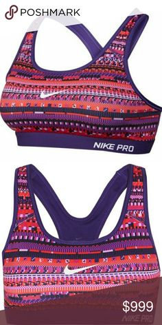 COMING SOON! Nike Pro Dri-Fit Classic Padded 8 Bit Nike Pro dri-fit classic padded 8 bit training sports bra. Dri-fit helps pull moisture off of your body to help keep you dry and cool Nike Intimates & Sleepwear Bras