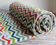 Organic Multicolor Chevron Baby Blanket by Birch Organic Fabrics - Super Soft blanket! by Saravadesigns on Etsy