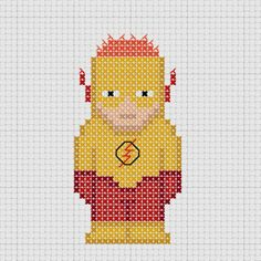 Cross stitch DC Comics Young Justice Kid Flash.