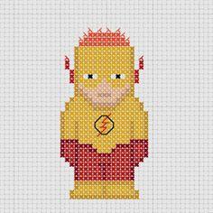 Cross stitch DC Comics Young Justice Kid Flash.