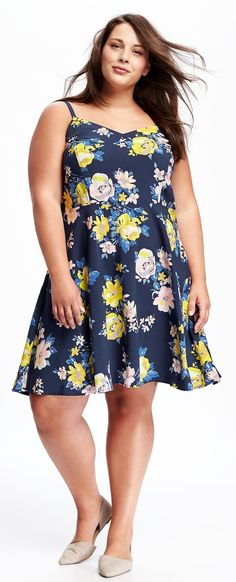 Plus Size Fit & Flare Cami Dress