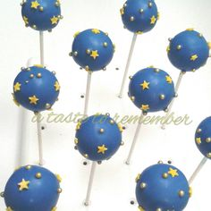 Twinkle Twinkle Little Star Baby Shower Cake Pops- 1 Dozen by ATasteToRemember on Etsy https://www.etsy.com/listing/204313941/twinkle-twinkle-little-star-baby-shower