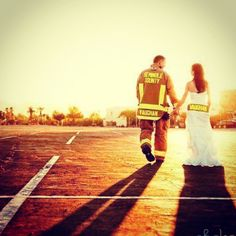 Maybe someday this will happen <3 fireman wedding