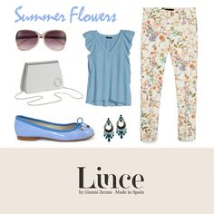 Summer flowers!  #blucher #oxford #shoes #calzado #madeinspain #lince #linceshoes #look #tendencias #white #blue