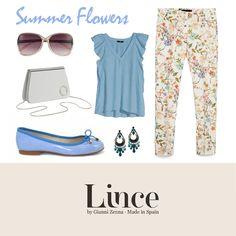 Summer flowers!  #blucher #oxford #shoes #calzado #madeinspain #lince #linceshoes #look #tendencias #white #blue