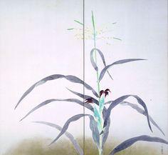 小林古径「玉蜀黍(とうもろこし)」東京国立近代美術館蔵