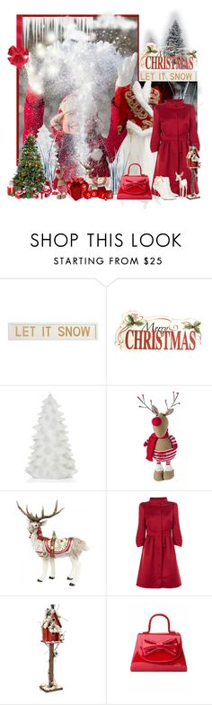 """""""LET IT SNOW !"""" by tina-teena ❤ liked on Polyvore featuring Pottery Barn, WALL, Design 55, Fitz & Floyd, Alexander McQueen, Coast, Camomilla and Nicholas Kirkwood"""