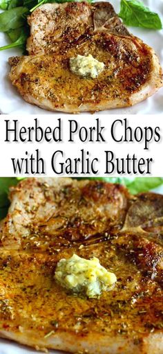 This easy pork chop recipe takes no more than 15 minutes and is flavored with dried herbs and a quick garlic butter 283 calories and 6 Weight Watchers SP Pan Seared Easy Recipes Bone In Skillet On The Stove Marinated Pork Chops, Baked Pork Chops, Pork Chops In Skillet, Easy Pork Chop Marinade, Herbs For Pork, Pork Chop Dinner, Keto Pork Chop, Pork Chop Meals, Easy Pork Chop Recipes