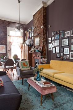 A Bold Bench is Just What Your Boring Living Room Seating Arrangement Needs
