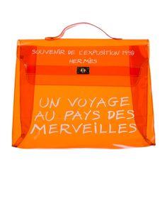 Hello Jello: Hermès Vinyl Clear Kelly Bag.