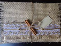 Convite de Casamento Juta fio dourado
