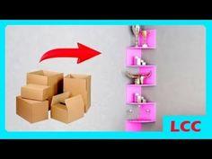 12 Ide Hiasan Dinding Kreatif Dari Kertas + Cara Membuatnya - YouTube Diy  Corner Shelf 49c1518933