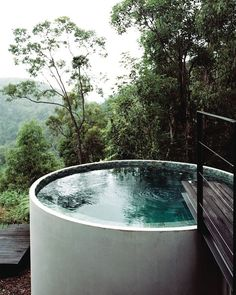 Scorcher in Melbourne today. It made me think about how lovely it would be to jump into this water-tank turned plunge pool by from all the way back in issue via greenmagazine.it pool photoshoot ideas Design Hotel, House Design, Design Design, Round Hot Tub, Round Pool, Outdoor Spaces, Outdoor Living, Kleiner Pool Design, Outdoor Baths