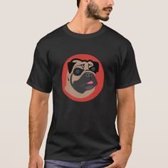 Simple and funny Bulldog's face T-Shirt design!