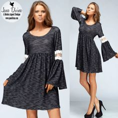 Fall Fashion, Winter Fashion, Holiday Outfit, Daydreamer Baby-doll Dress, by Jane Divine Boutique www.janedivine.com #janedivine