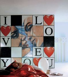 mosaico indoor in vetro da incollare the fumetto mosaic collection