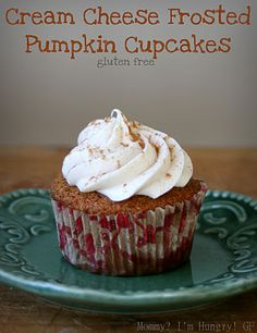 Gluten Free Pumpkin Cupcakes. I will sub stevia & almond flour to make it sugar free & carb free.