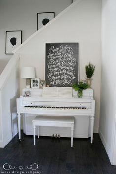 house tour / summer edition Painted Piano. Art from @lindsayletters