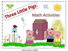 """Can be used when reading """"The Three Little Pigs""""  Great Math station activities!"""