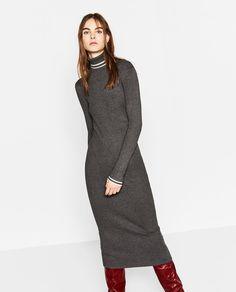 ZARA - BLACK FRIDAY - LONG RIBBED DRESS