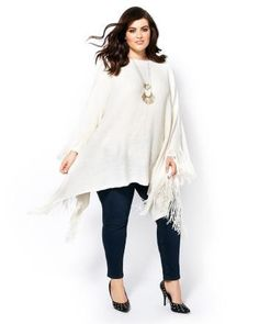Looking to keep cozy and look chic? Go for this trendy plus-size sweater from Melissa McCarthy! Trendy Plus Size Fashion, Stylish Plus, Trendy Plus Size Clothing, Plus Size Dresses, Plus Size Outfits, Plus Fashion, Fall Fashion, Fashion Ideas, Plus Size Leggings