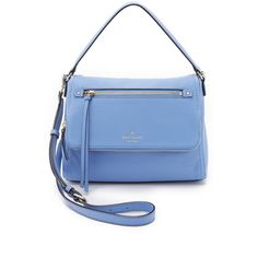 Kate Spade New York Toddy Bag ($300) ❤ liked on Polyvore featuring bags, handbags, shoulder bags, vista blue, kate spade handbag, leather purse, leather handbags, crossbody handbags and kate spade purses