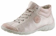 Rieker Sneaker, mit Perforation für 49,99€. Metallicfarben unterlegte Perforation, Aus Lederimitat mit Textil kombiniert bei OTTO