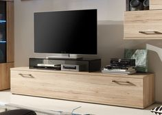 Lowboard Olivia TV-Schrank Eiche Sanremo Hell 7656. Buy now at https://www.moebel-wohnbar.de/lowboard-olivia-tv-schrank-tv-board-eiche-sanremo-hell-7656.html