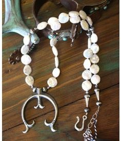 Chelsea Collette Freshwater Pearl & Naja Necklace!